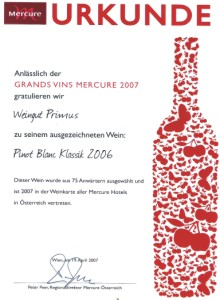 Grands Vins Mercure 2007